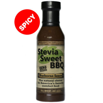 Spicy Stevia Sweet BBQ Barbecue Sauce 15 ounce bottle